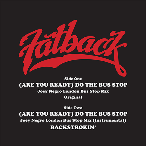 Fatback Band/DO THE BUS STOP 12""