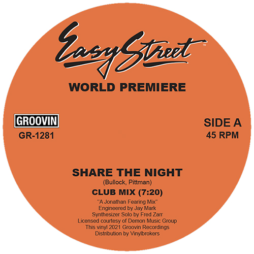 """World Premiere/SHARE THE NIGHT 12"""""""