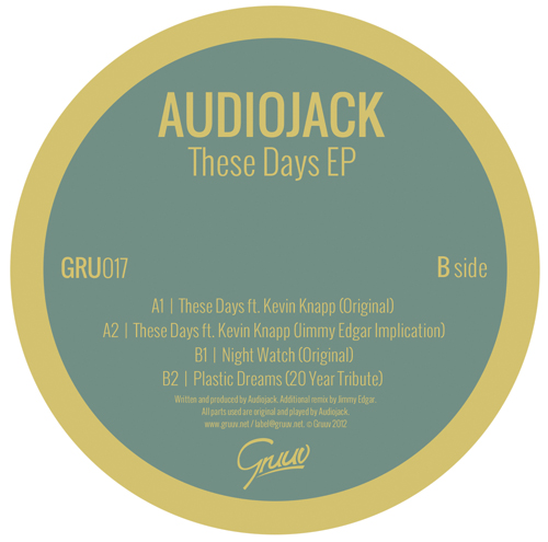 "Audiojack/THESE DAYS JIMMY EDGAR RMX 12"""