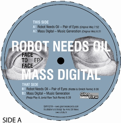 Robot Needs Oil & Mass Digital/SPLIT 12""