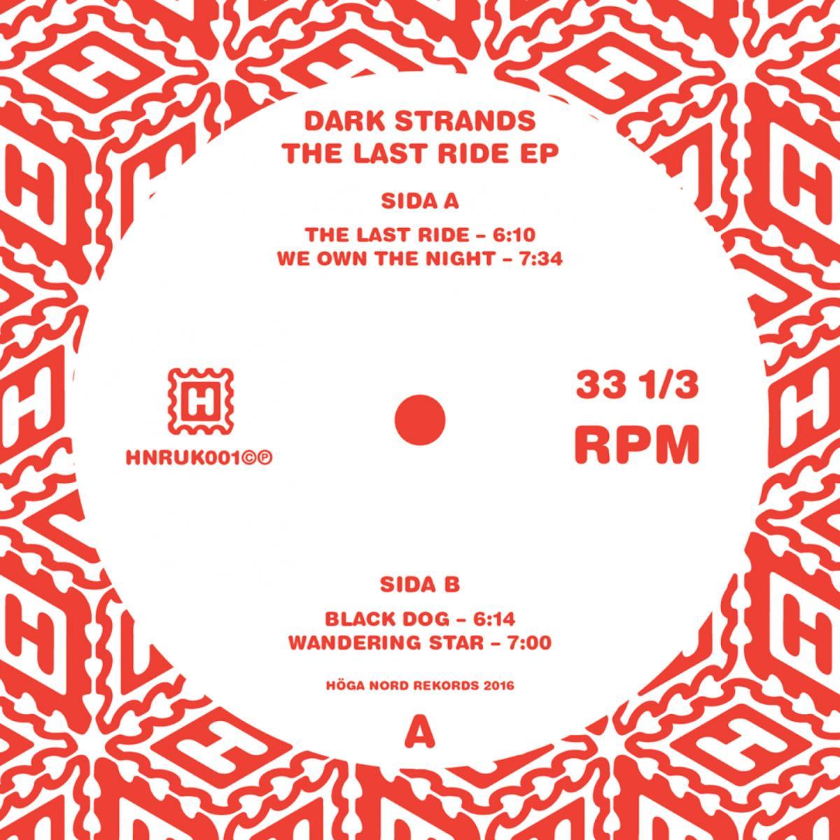 "Dark Strands/THE LAST RIDE EP 12"""