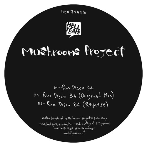 Mushrooms Project/RIO DISCO 12""