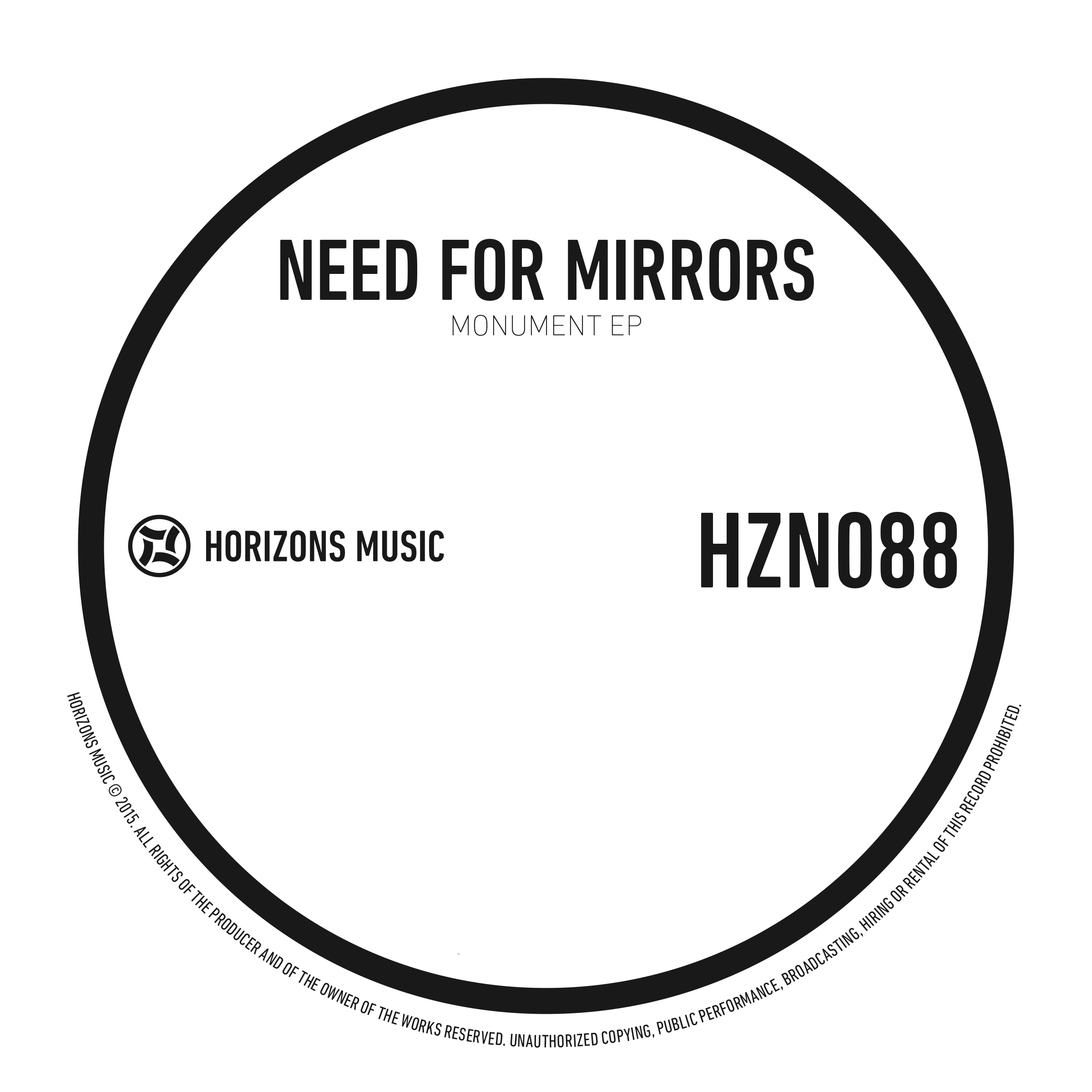 Need For Mirrors/MONUMENT EP 12""