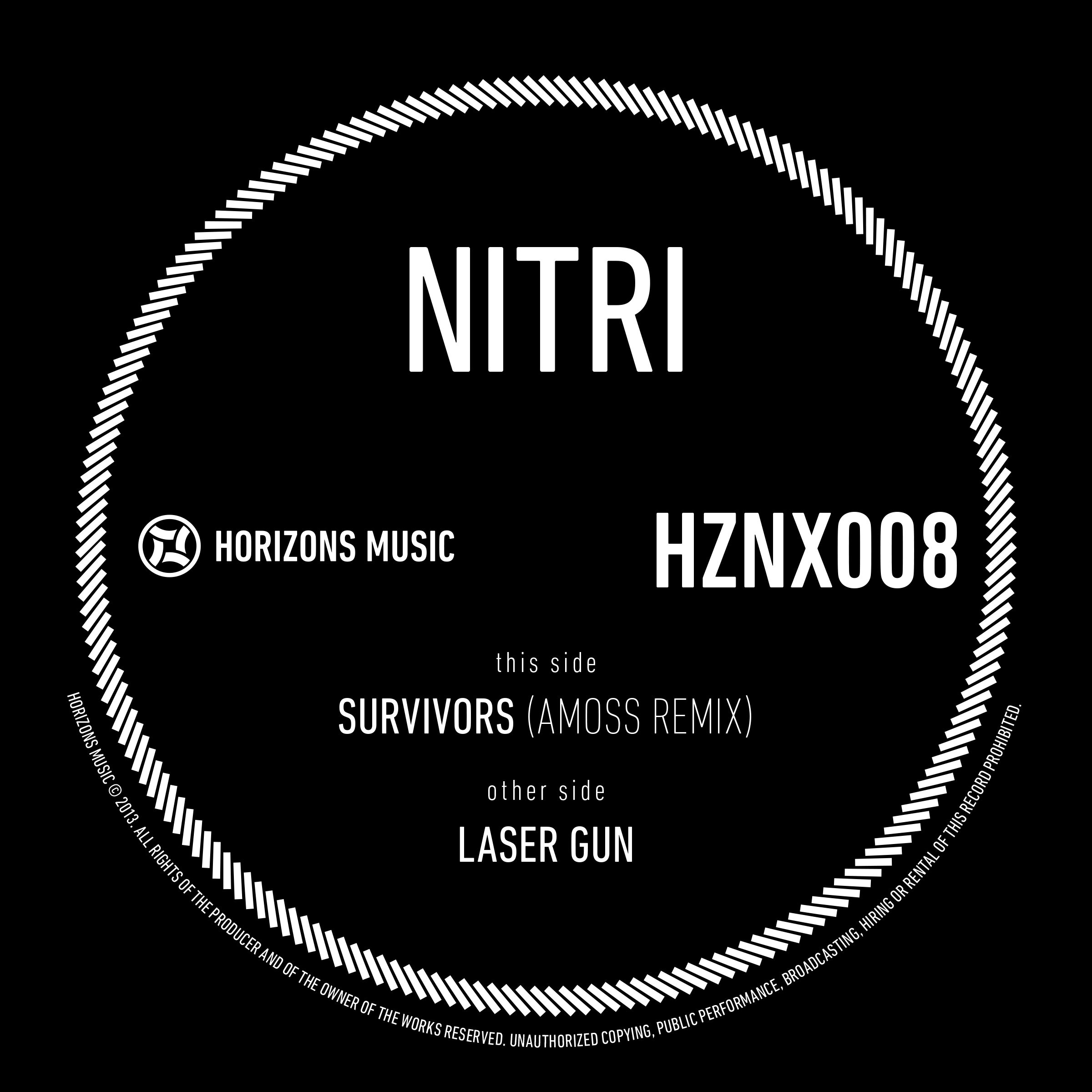 Nitri/SURVIVORS (AMOSS REMIX) 12""