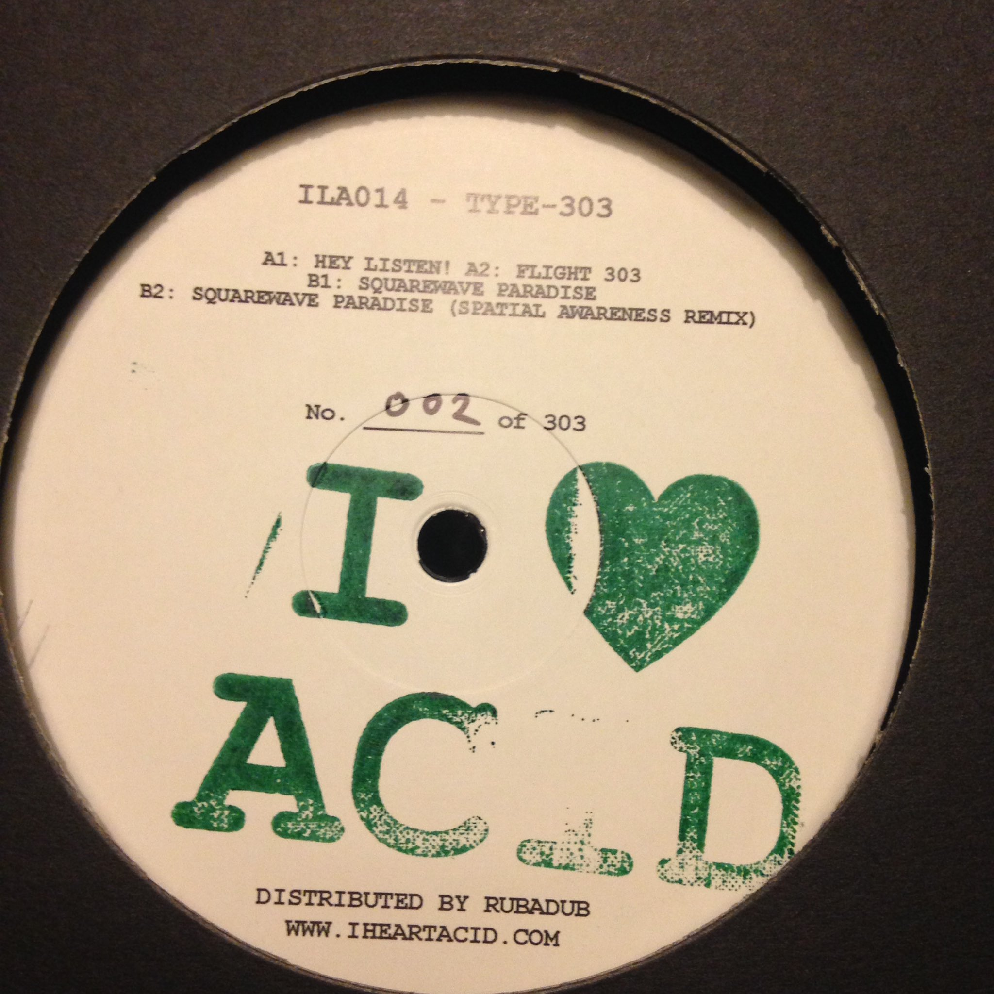 Type-303/I LOVE ACID 014 12""