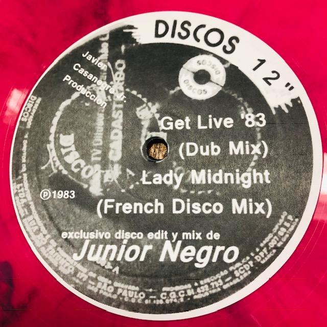 "Junior Negro/GET LIVE 83"" 12"""