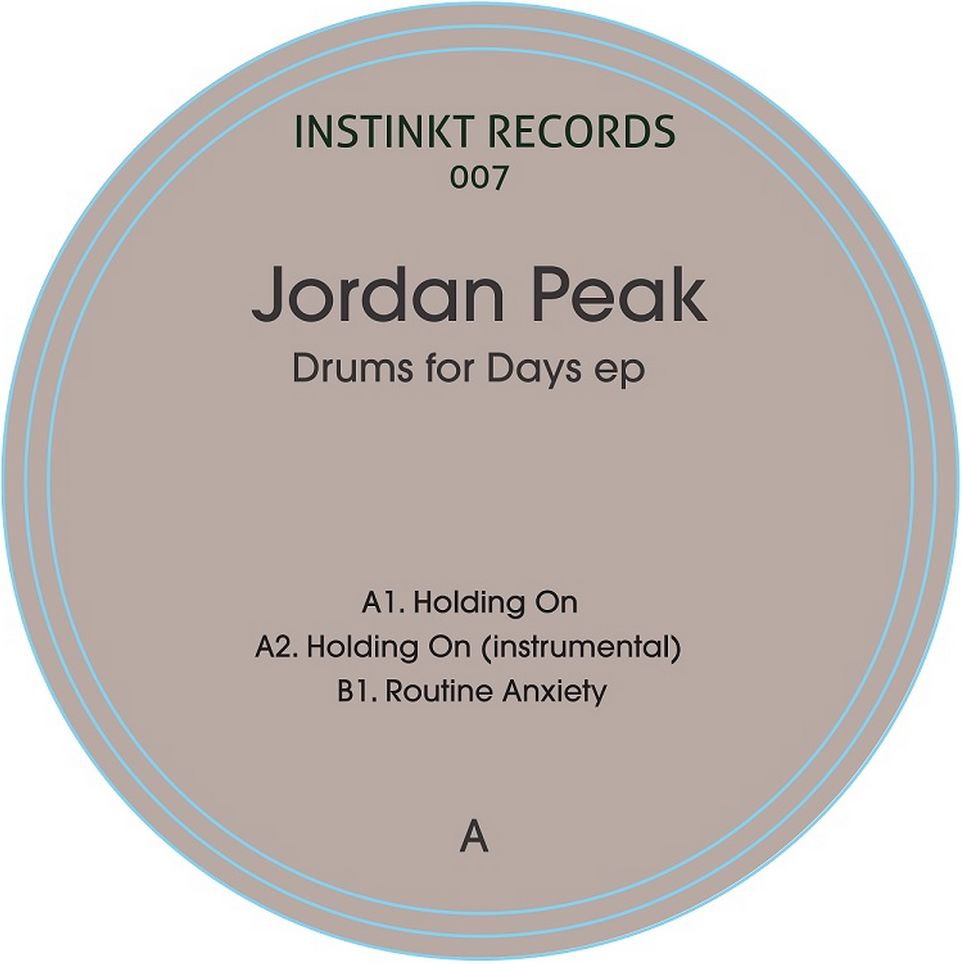 Jordan Peak/DRUMS FOR DAYS EP 12""