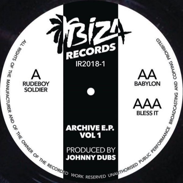 """Johnny Dubs/ARCHIVE VOL 1 12"""""""