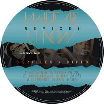 "Skrillex & Diplo/WHERE ARE U NOW RMX 12"""