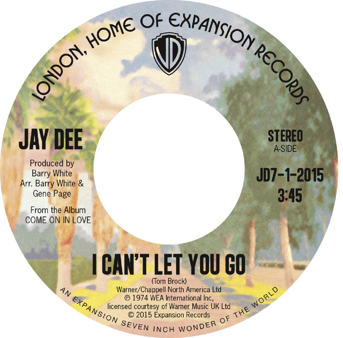 Jay Dee/I CAN'T LET YOU GO (1974) 7""