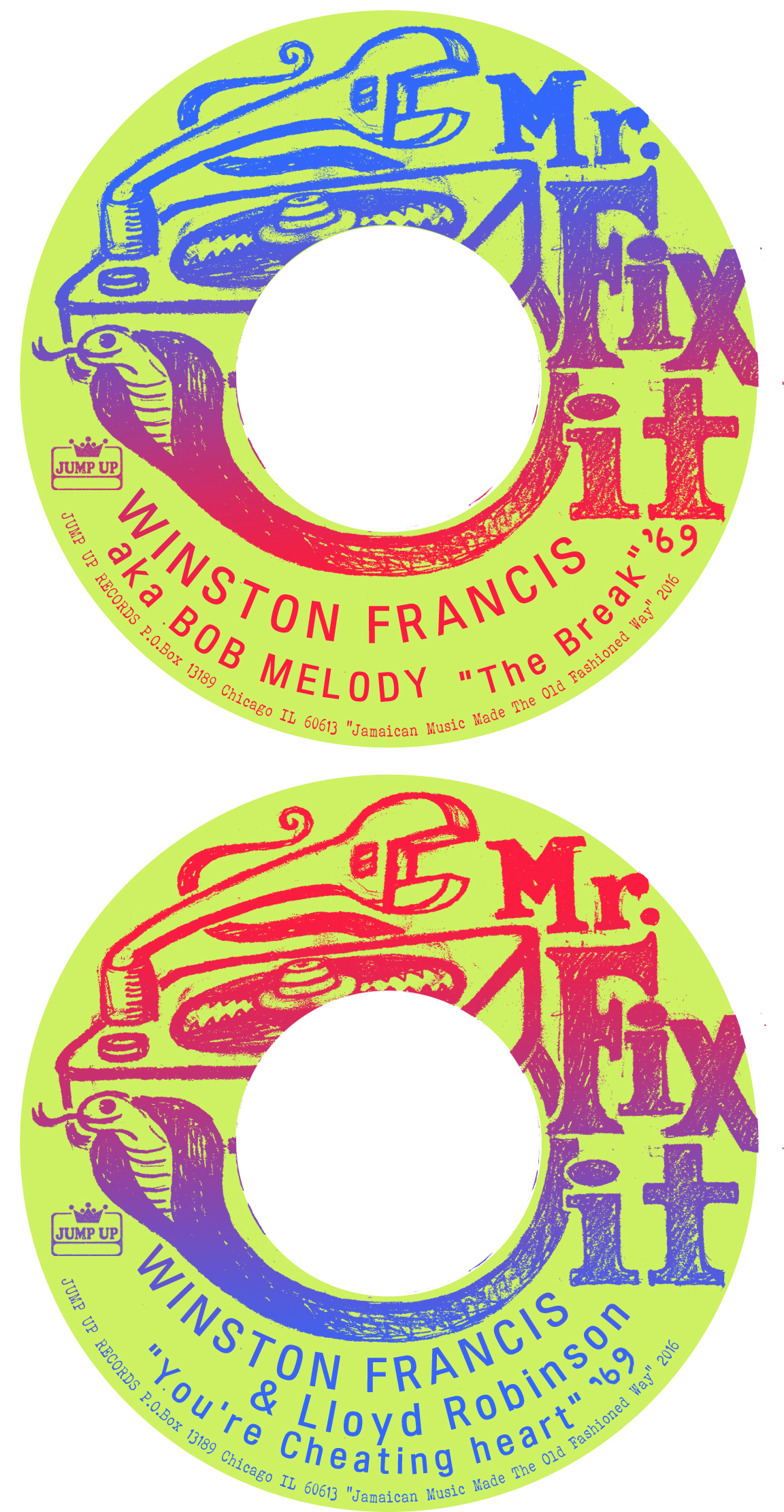 Winston Francis/THE BREAK (1969) 7""