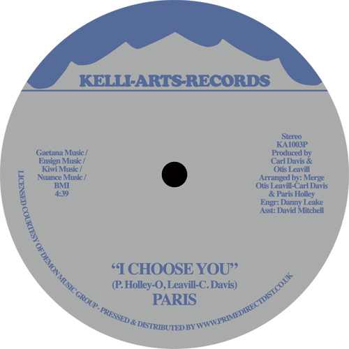 Paris/I CHOOSE YOU -RSD 12""