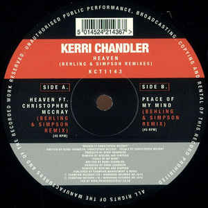 Kerri Chandler/HEAVEN (B & S REMIX) 12""