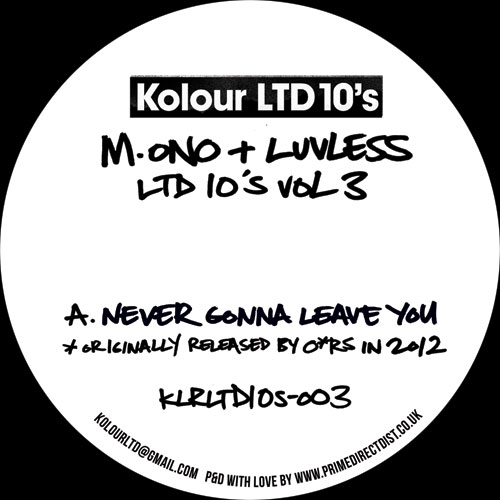 """M.ono & Luvless/LTD 10""""s VOL. 3 10"""""""