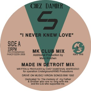 Chez Damier/I NEVER KNEW (MK REMIX) 12""