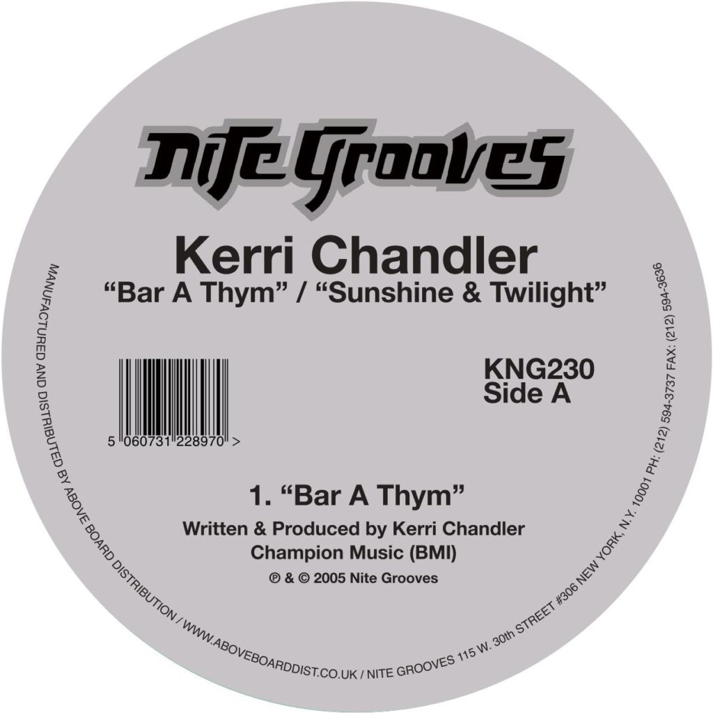 Kerri Chandler/BAR A THYM 12""
