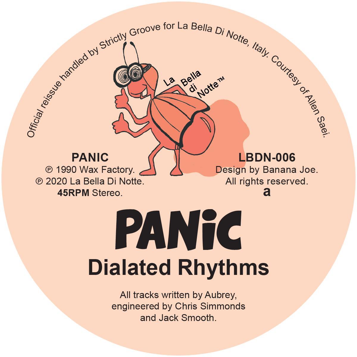 """Panic/DIALATED RHYTHMS 12"""""""
