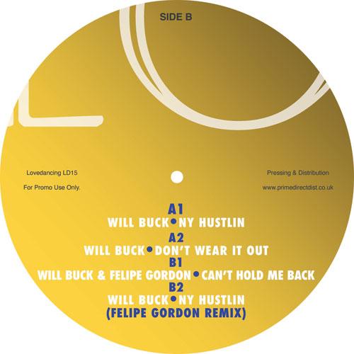 """Will Buck & Felipe Gordon/NY HUSTLIN 12"""""""