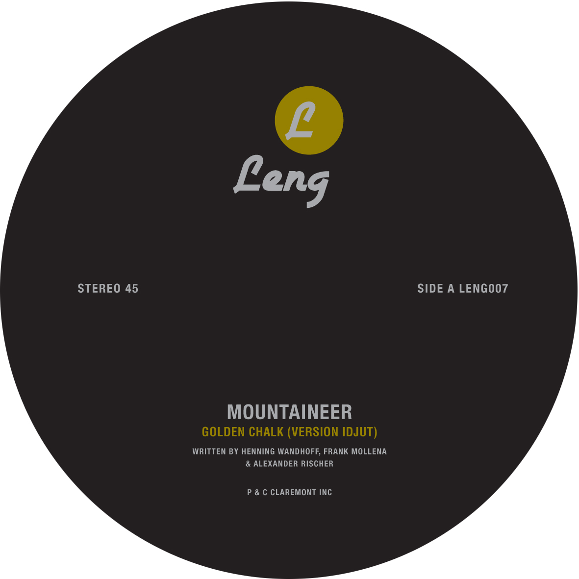 Mountaineer/GOLDEN CHALK IDJUT REMIX 12""