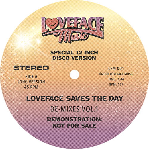 Loveface/DE-MIXES VOL. 1 12""