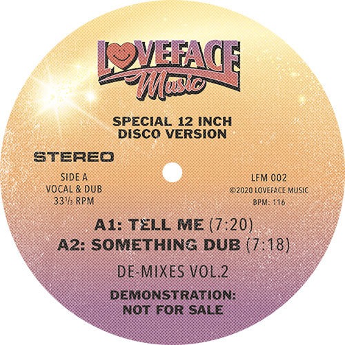 Loveface/DE-MIXES VOL. 2 12""