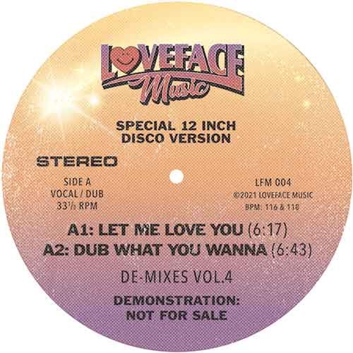 Loveface/DE-MIXES VOL. 4 12""