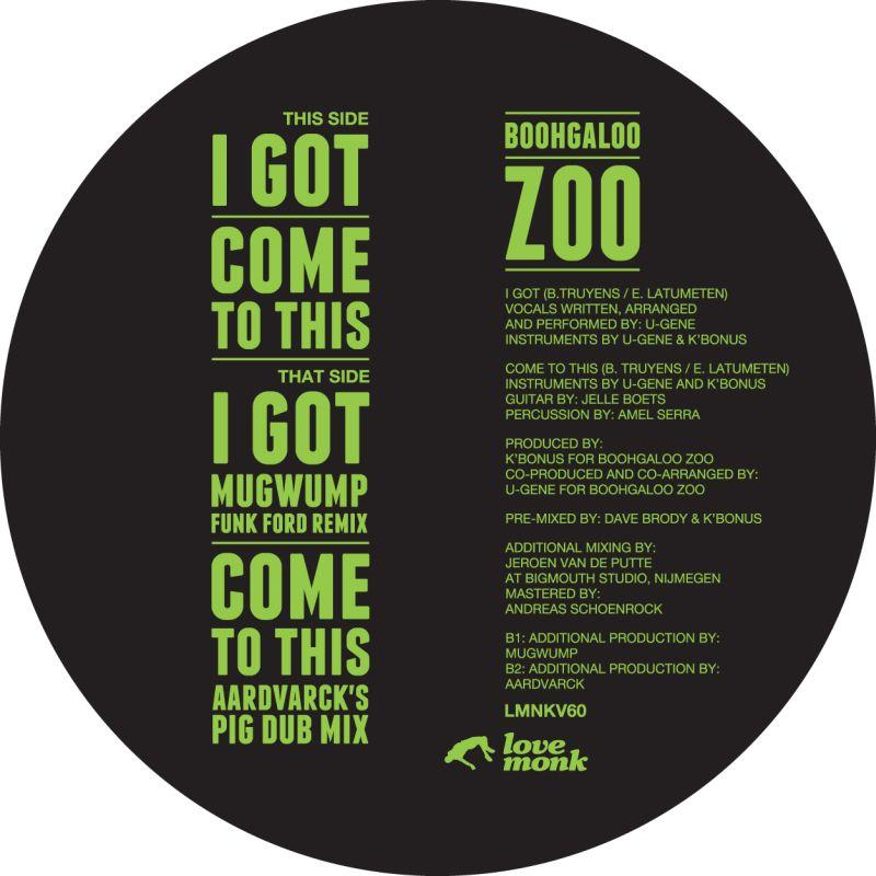 Boohgaloo Zoo/I GOT 12""