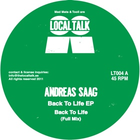 Andreas Saag/BACK TO LIFE EP 12""