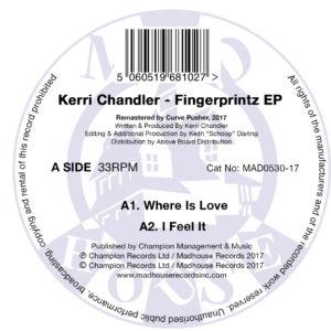 """Kerri Chandler/FINGERPRINTZ EP 12"""""""
