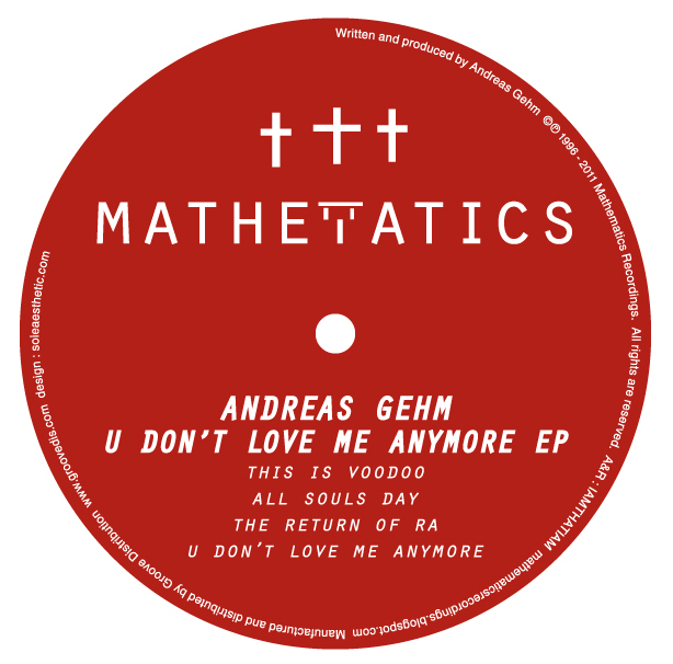 Andreas Gehm/U DON'T LOVE ME ANYMORE 12""