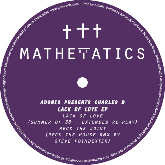 "Adonis & Charles B/LACK OF LOVE 12"""