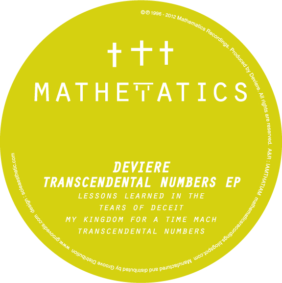 Deviere/TRANSCENDENTAL NUMBERS EP 12""