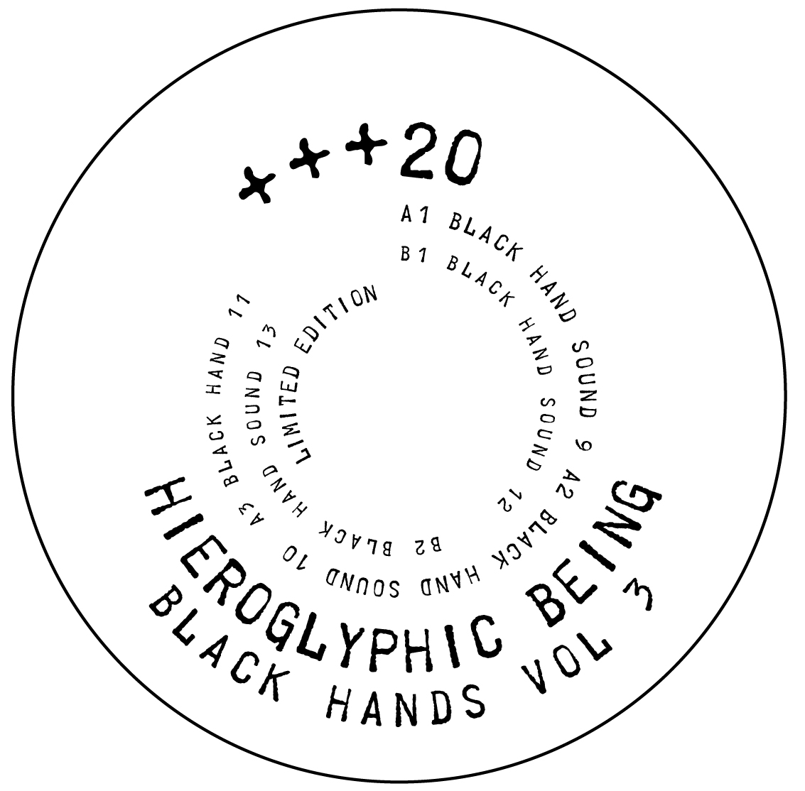 Hieroglyphic Being/BLACK HANDS VOL 3 12""