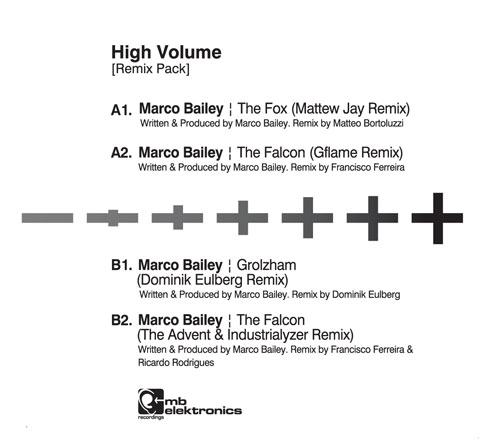 Marco Bailey/HIGH VOLUME (RMX PACK) 12""