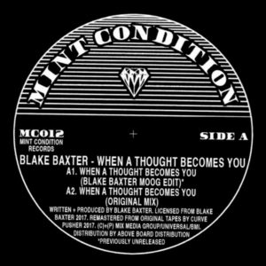 Blake Baxter/WHEN A THOUGHT... 12""