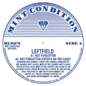 "Leftfield/NOT FORGOTTEN -RSD 12"""