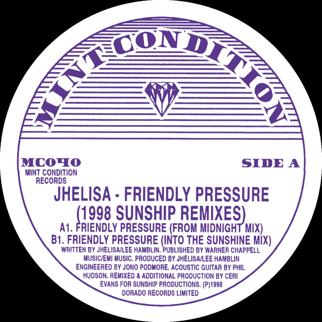 Jhelisa/FRIENDLY PRESSURE (SUNSHIP) 12""