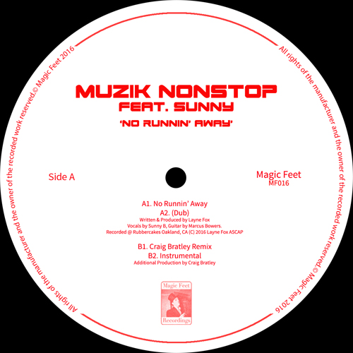 Muzik Nonstop/NO RUNNIN' AWAY 12""