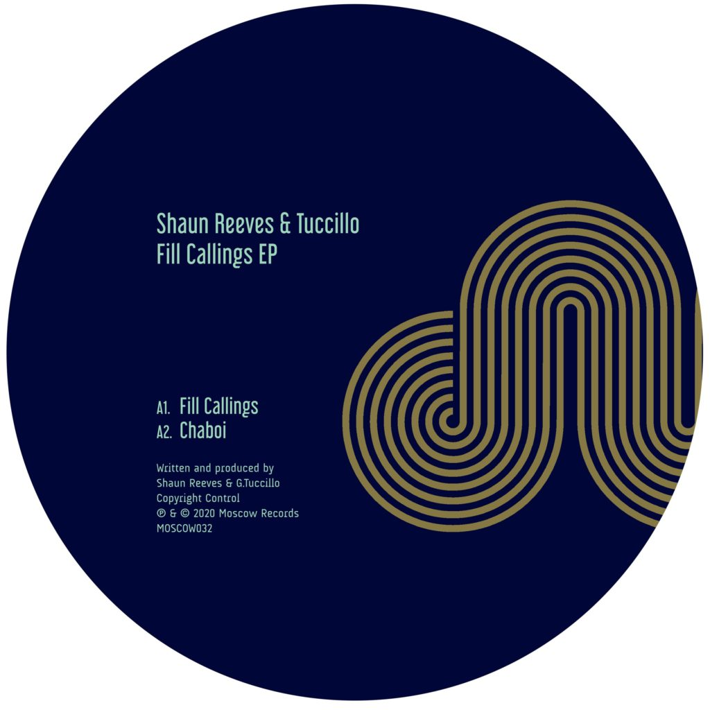 Shaun Reeves/FILL CALLINGS EP 12""