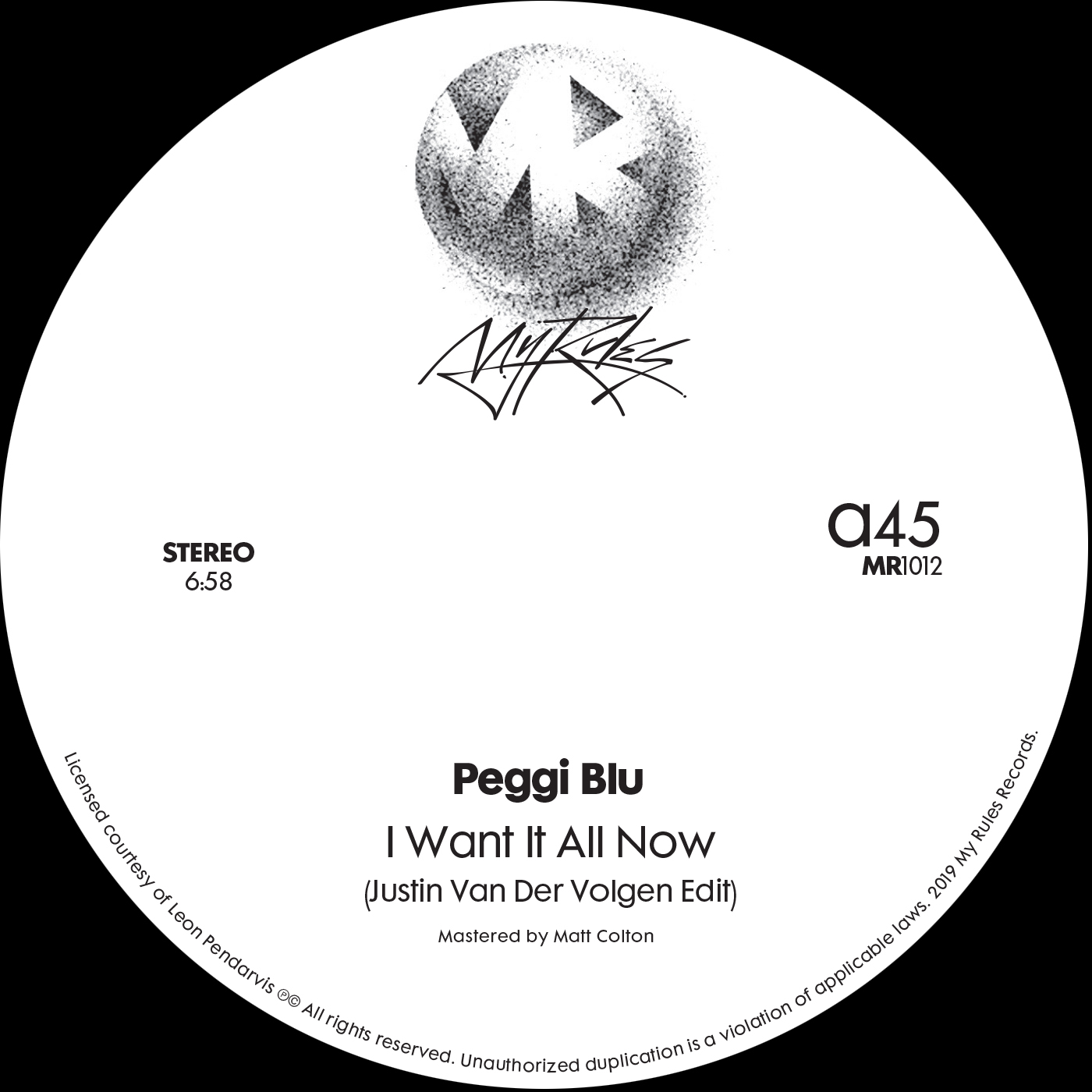 Peggi Blu/I WANT IT.. (JVDV EDIT) 12""