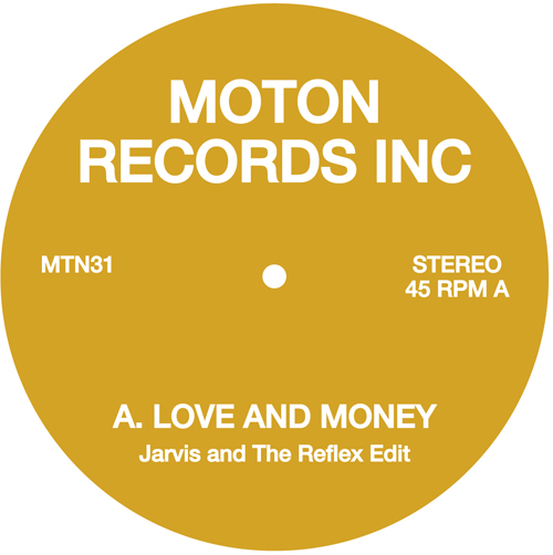 Moton/LOVE AND MONEY - ON THE RUN 12""