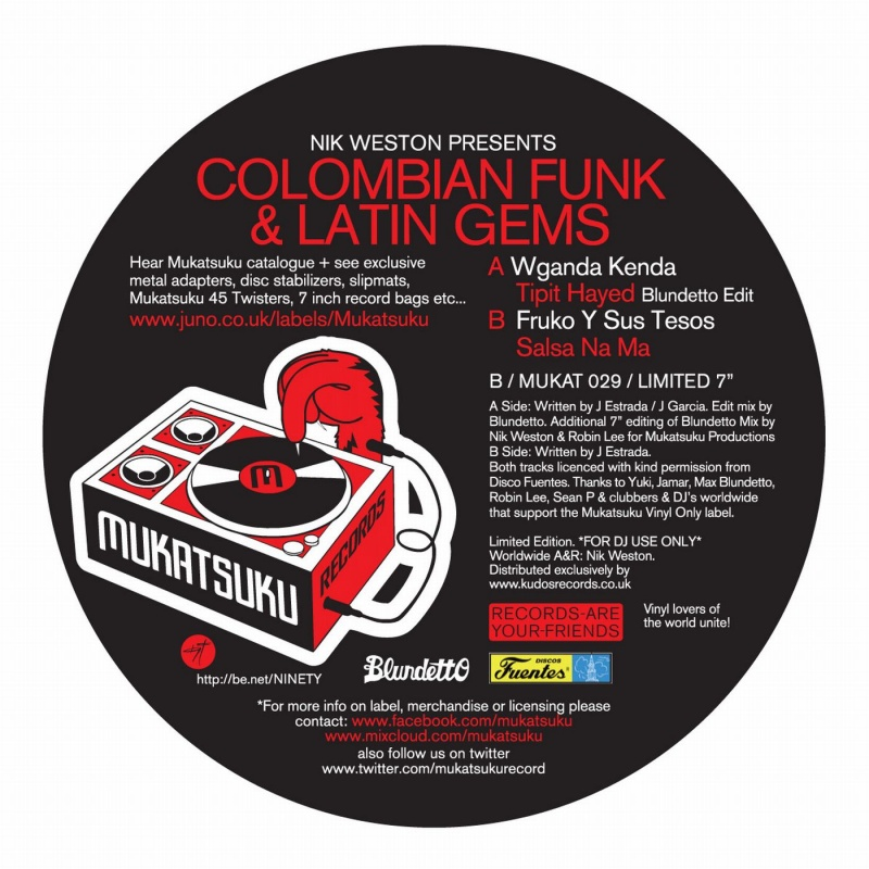 Nik Weston/COLUMBIAN FUNK&LATIN GEMS 7""