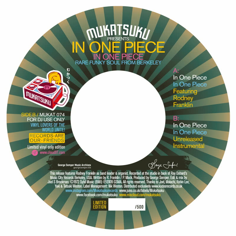 """In One Piece/IN ONE PIECE 7"""""""