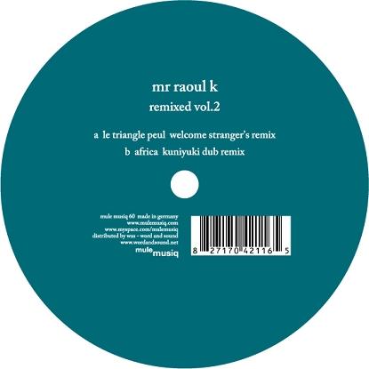 """Mr. Raoul K/REMIXED VOL.2 12"""""""