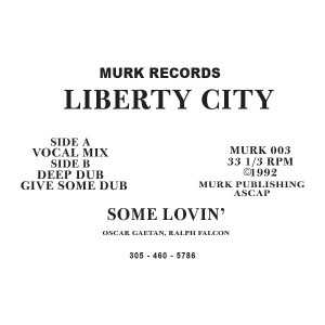 Liberty City/SOME LOVIN' 12""
