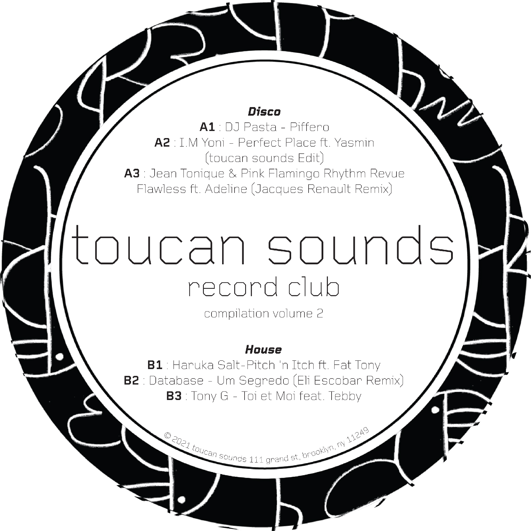 Various/TOUCAN SOUNDS REC CLUB VOL 2 LP