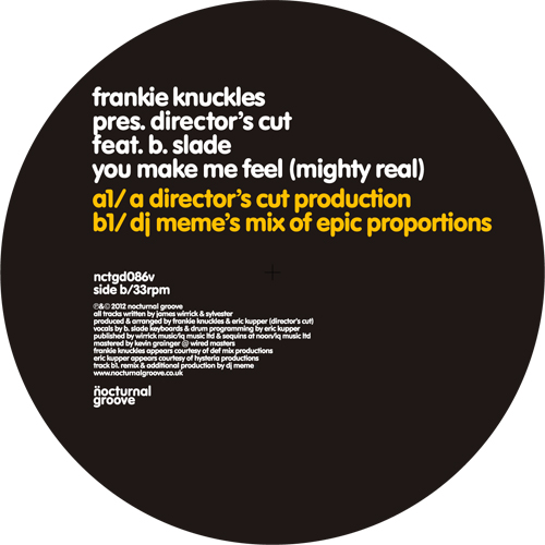 Frankie Knuckles/YOU MAKE - DJ MEME 12""