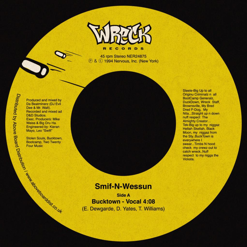 """Smif-N-Wessun/BUCKTOWN 7"""""""