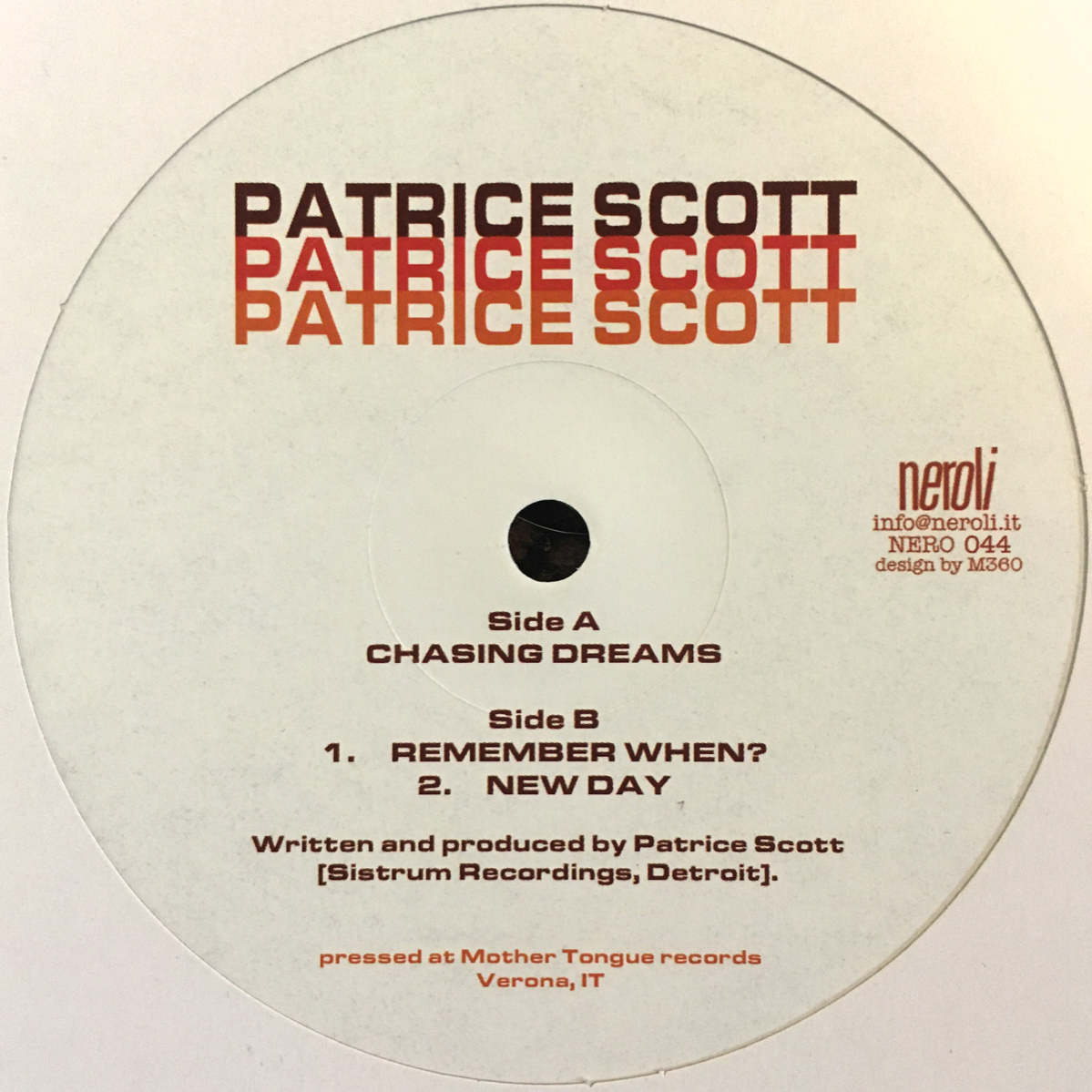 Patrice Scott/CHASING DREAMS 12""