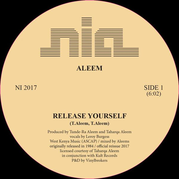Aleem/RELEASE YOURSELF REPRESS 12""